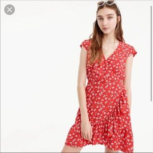 J. Crew Ruffle Hem Dress Size 4